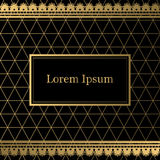 Black and gold decorative background Stock Image