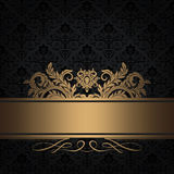 Black and gold decorative background. Royalty Free Stock Image