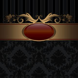 Black and gold decorative background. Stock Images