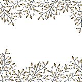 Black and gold decorative floral background Stock Images