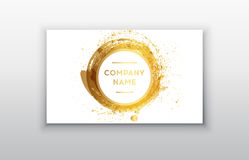 Black and Gold Design Templates for Brochures, Flyers, Mobile Technologies and Online Services Royalty Free Stock Photo