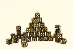 Black And Gold Dice Stock Images