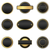 Black and Gold Emblems Stock Image