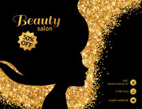 Black and Gold Fashion Woman Royalty Free Stock Photography