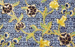 Black and gold flora Sarong Royalty Free Stock Photo