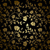 Black and gold vector floral texture for backgroun Stock Image