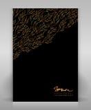 Black and gold flyer. Editable elegant flyer or poster design Royalty Free Illustration