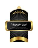 Black gold-framed label Stock Photo
