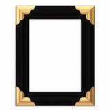 Black and Gold Framed Picture Frame w/ Path Stock Photo