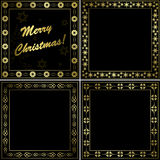 Black and gold frames - set - vector Stock Image