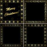 Black and gold frames - set - vector Stock Image