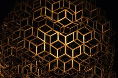 Black and gold geometric background stock photography