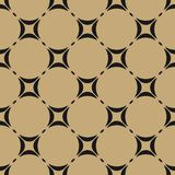 Black and gold geometric seamless pattern. Vector ornament texture. vector illustration