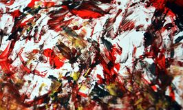 Gold black red soft blurred painting watercolor background, abstract painting watercolor background. Black gold gray yellow white blurred soft brush strokes stock images