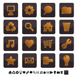 Black and gold icons set 1 Stock Photography