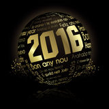 Black and gold 2016 Royalty Free Stock Photography