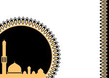 Black and gold islamic decorative background Royalty Free Stock Image