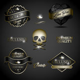 Black gold label Stock Image
