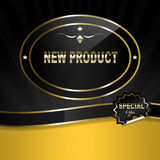 Black & Gold Label Royalty Free Stock Photos