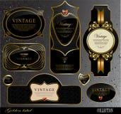 Black gold labels Stock Image