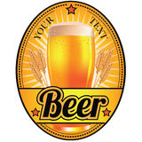 Black and gold light beer label Royalty Free Stock Photo