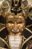 Black gold mask from venice Royalty Free Stock Image