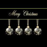 Black gold merry christmas card Royalty Free Stock Image