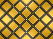 Black and gold mosaic Stock Image