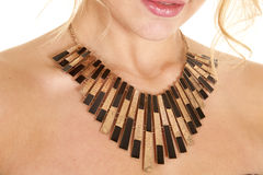 Black and gold necklace Stock Photos