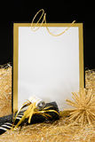 Black and Gold New Year's Eve Invitation Stock Images