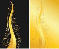 Black and gold ornamental backgrounds Stock Photos