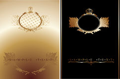 Black And Gold Ornate Banner. Royalty Free Stock Photos