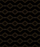 Black and gold pattern Royalty Free Stock Photography