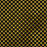 Black and gold  pattern. Abstract polka dot background. Royalty Free Stock Images