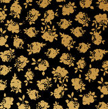 Black and gold rose wallpaper background vector Stock Image