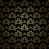 Black and gold vector seamless pattern - vintage Royalty Free Stock Photo