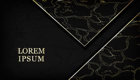 Black and gold snake skin background gold glitter, luxury, elegant, fashion triangle background. luxurious leather abstraction for. Abstract black and gold snake vector illustration