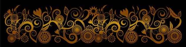 Black gold swirl background illustration stock image
