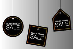 BLACK FRIDAY SALE text illustration, tags, vector event royalty free stock photography