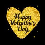 Black Gold Valentine Day Royalty Free Stock Image