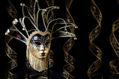 Black Gold Venetian Mask Stock Photography