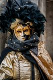 Black gold Venice Mask Royalty Free Stock Photos