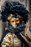Black gold Venice Mask Stock Photos