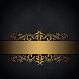 Black and gold vintage background. Royalty Free Stock Photo