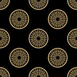 Black and golden abstract pattern. Vector Royalty Free Stock Image