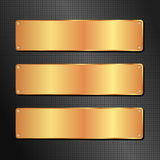 Black and golden background Royalty Free Stock Photos