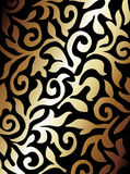 Black and golden background. Black and golden abstract background / pattern Royalty Free Stock Photo