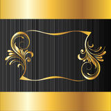 Black and golden background Royalty Free Stock Photo