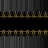Black and golden background. Vetor image of black and golden background with vertical lines Stock Photography