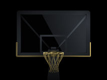 Black and golden basketball backboard Stock Images